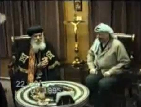 بالفيديو : البابا شنودة والرئيس عرفات ( فيديو نادر جدا جدا )