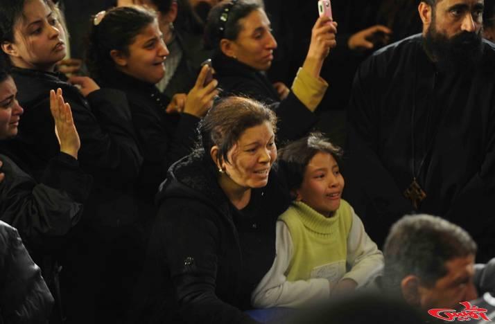 أرشيفية - دموع أقباط مصر في أحد الأحداث الطائفية