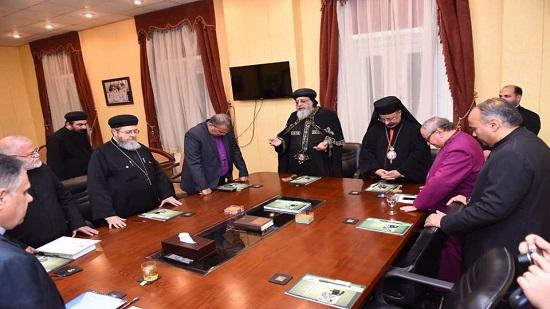 بالصور.. البابا يشارك في الذكرى السادسة لتأسيس مجلس كنائس مصر