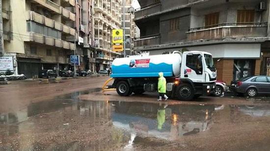 أمطار غزيرة تجتاح الإسكندرية في أول أيام «نوه الفيضة الكبرى»